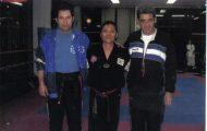Ο Ηλίας μαζί με το δάσκαλο από την Κορέα